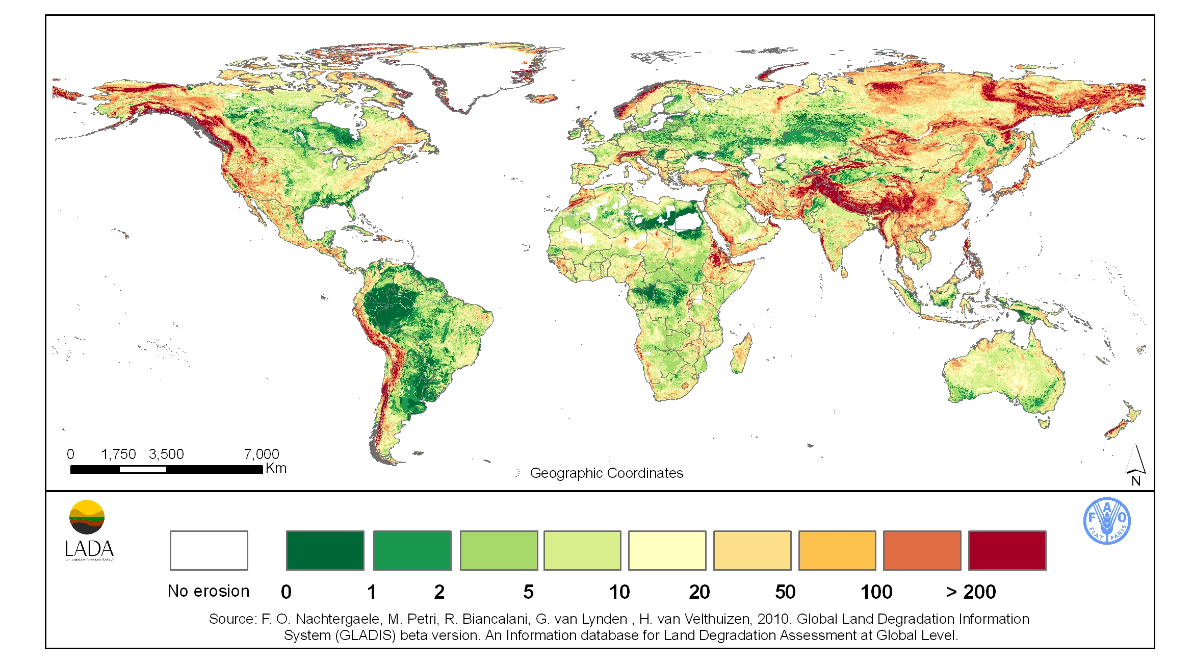 Erosion of the Soils of the World