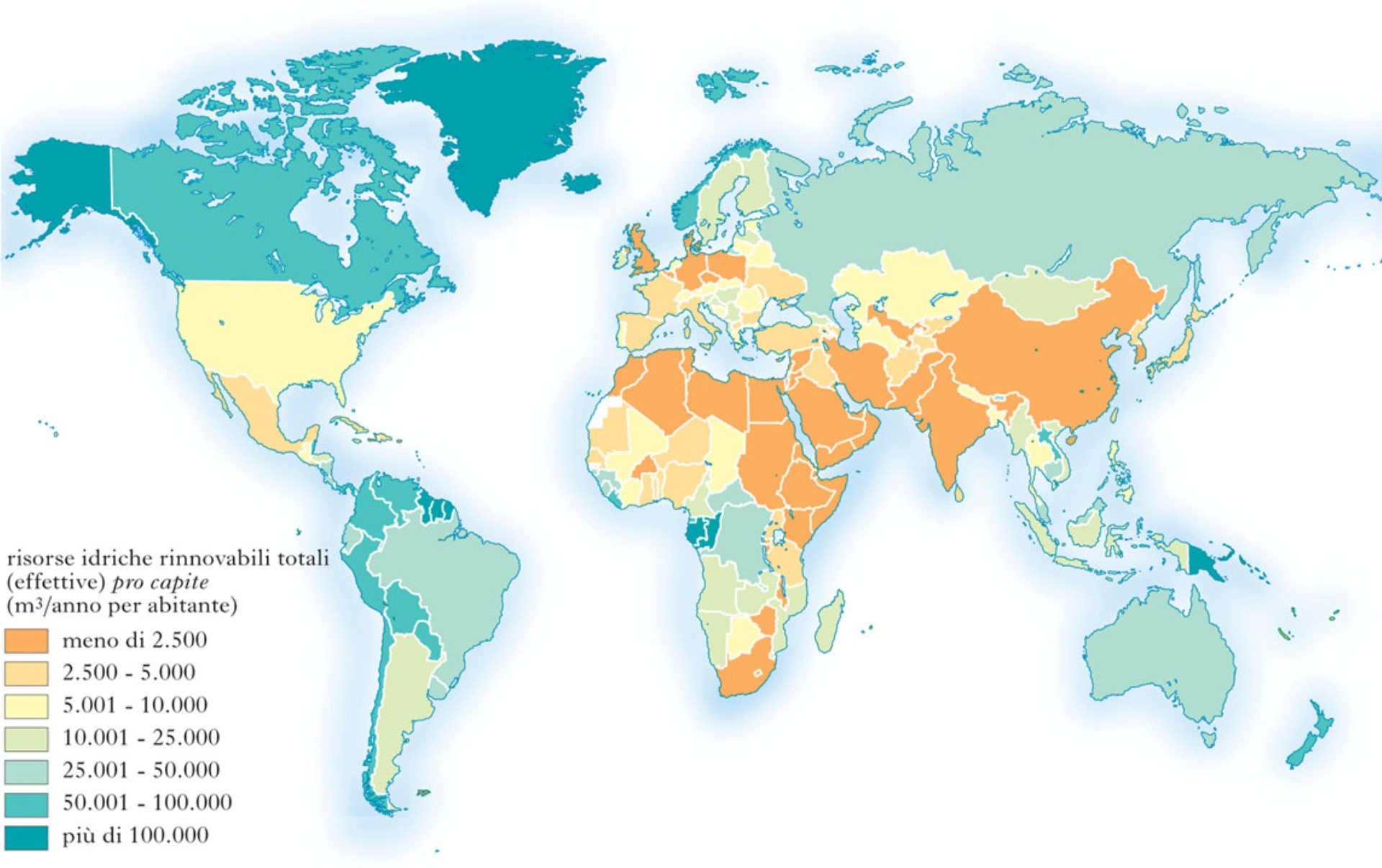World Map Of Water Resources - World's poorest countries map
