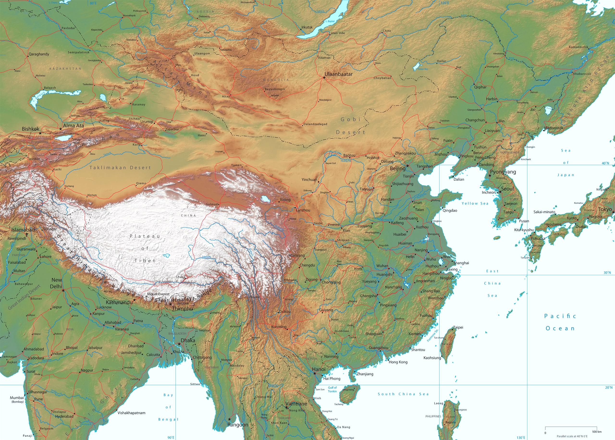 Garanzia di soddisfazione al 100% vari tipi di comprare bene Mappa Geografica della Cina: Carta geografica ad alta ...