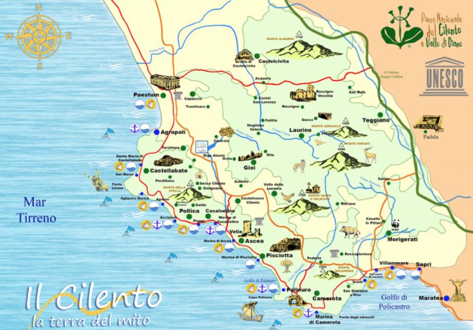 Cartina Stradale Cilento.Italiano Parco Nazionale Del Cilento E Vallo Di Diano E Alburni Flora E Fauna