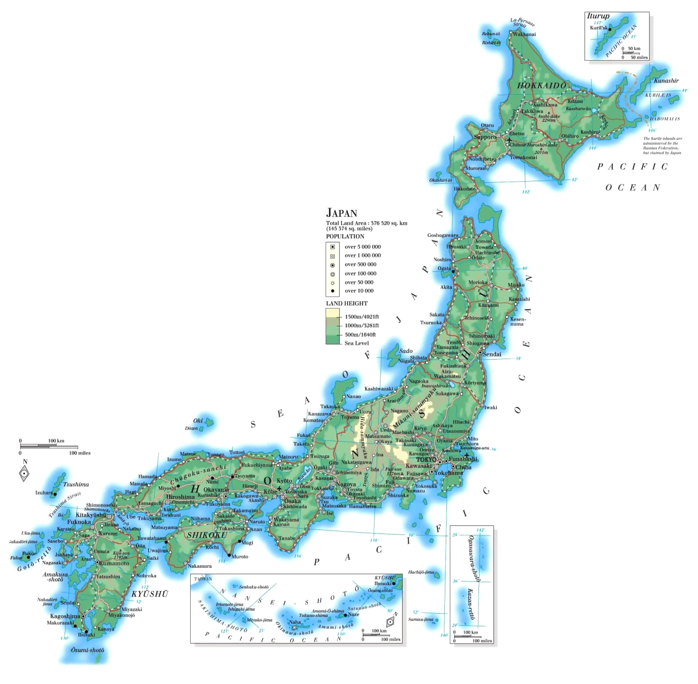 Cartina Fisica Del Giappone In Italiano.Mappa Geografica Del Giappone Morfologia Paesaggio Flora E Fauna
