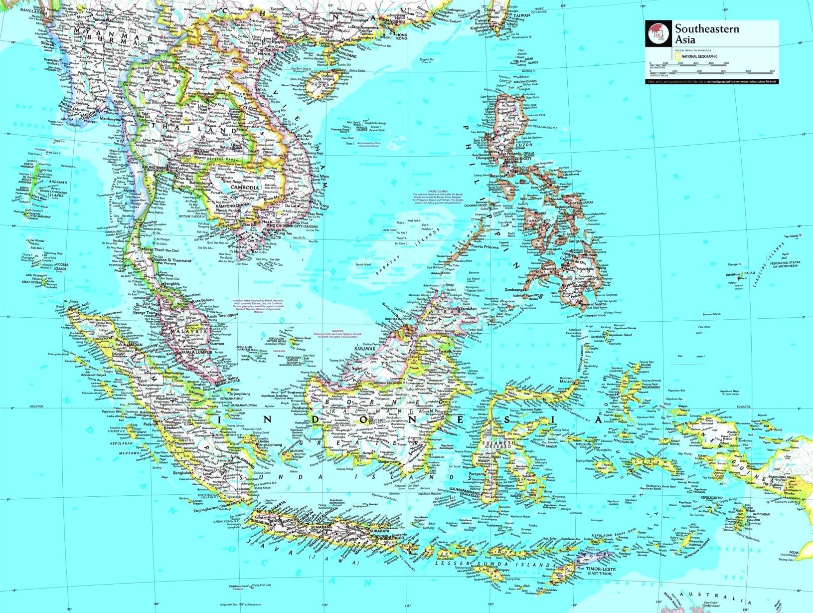 Cartina Dell Indonesia.Mappa Geografica Dell Indonesia Geografia Paesaggio Flora Fauna