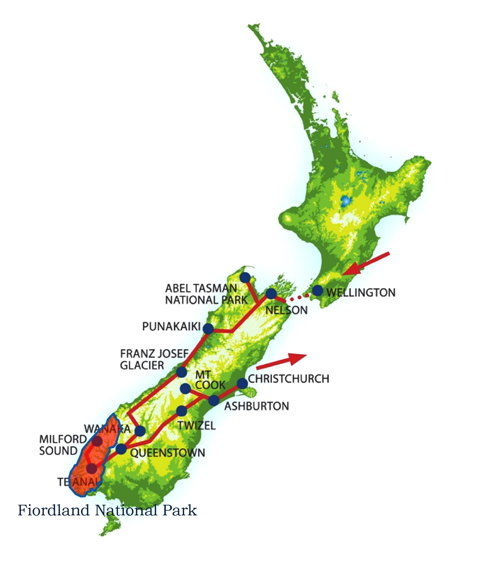 Italiano Parco Nazionale Del Fiordland In Nuova Zelanda