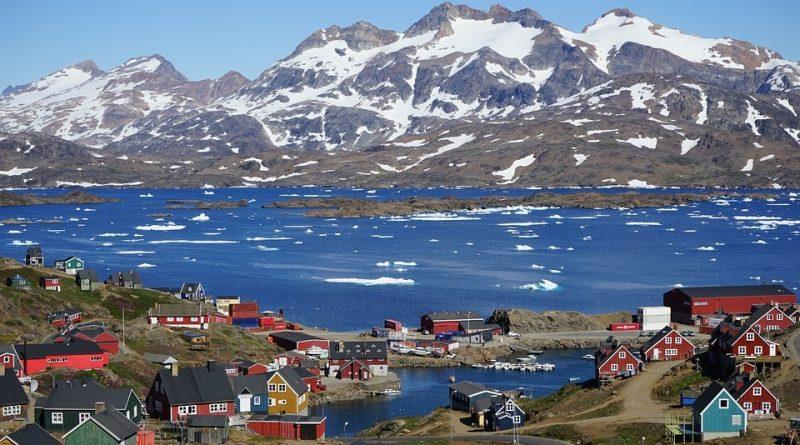 Mappa Geografica della Groenlandia